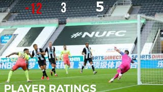 Newcastle 0-2 Man City | Player Ratings