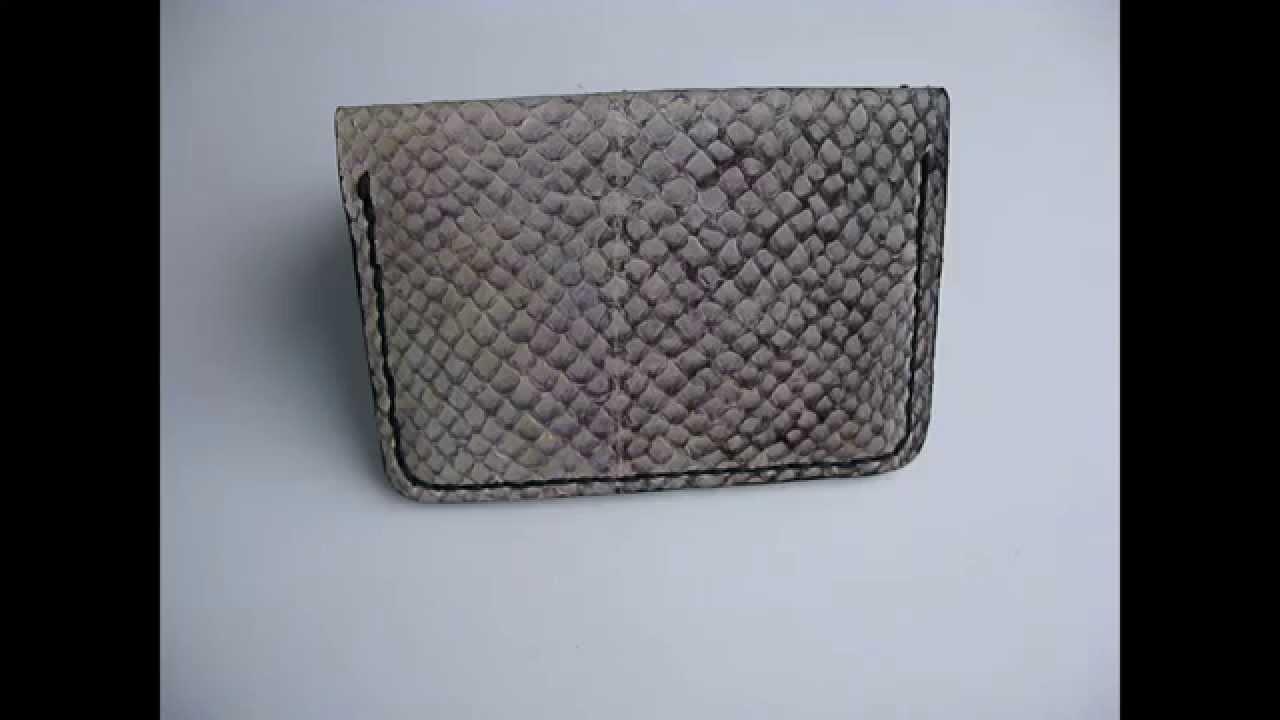 Slim Jim Salmon fish leather wallet with black goat skin interior ... 8951da6c3574