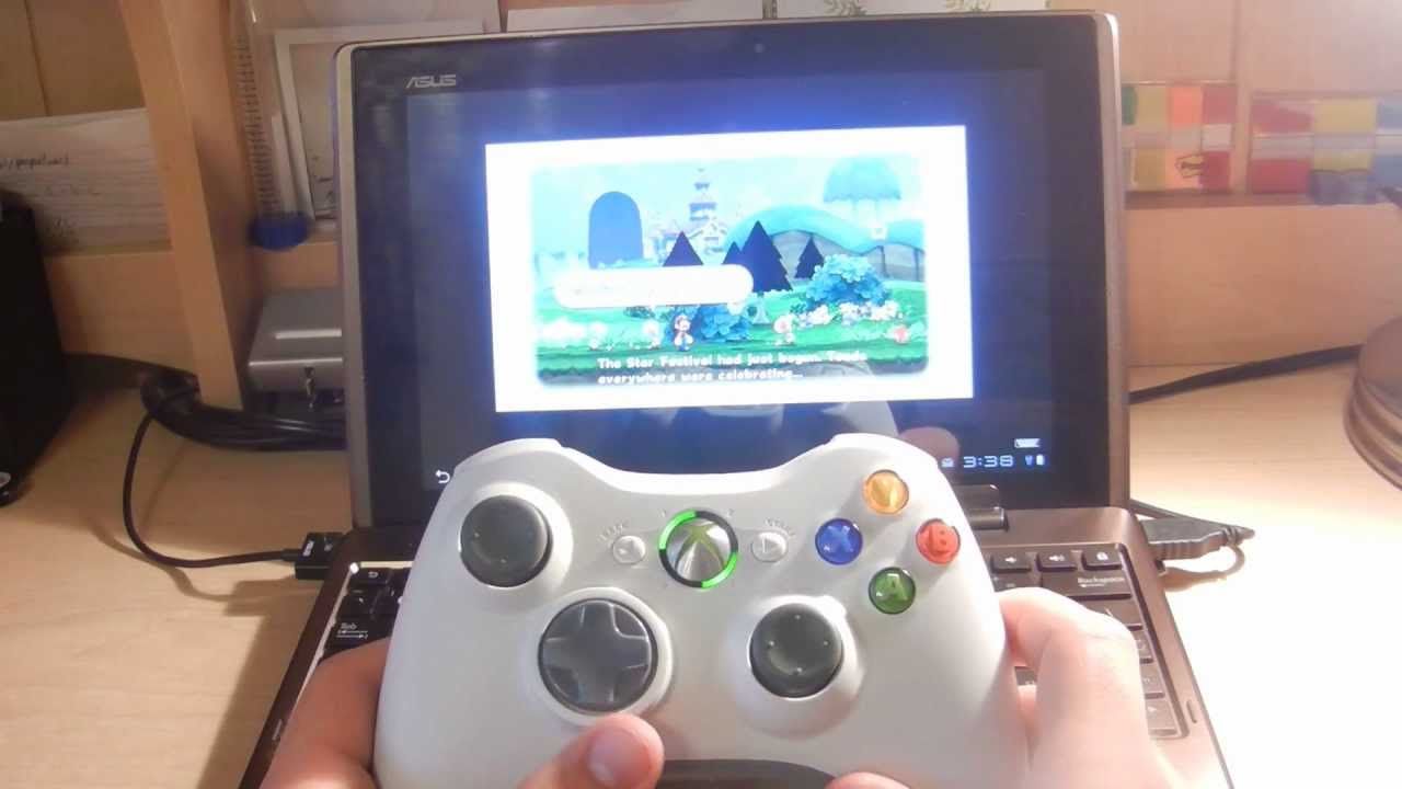 Here's a Guy Playing Wii on an Android Tablet with an Xbox