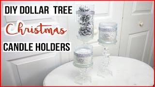 DIY Dollar Tree Christmas Candle Holders!