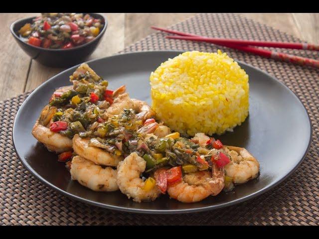 سنجاري - جمبري على الطريقة الصينية + أرز بالزعفران والشبت - الجزء الأول