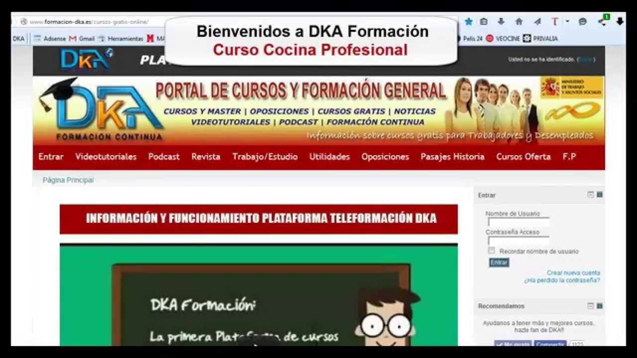 Curso gratis cocina profesional youtube for Curso cocina profesional pdf