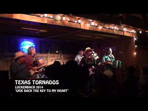 """LIVE"" Texas Tornados ""Give Back The Key To My Heart"" Luckenbach 2014"