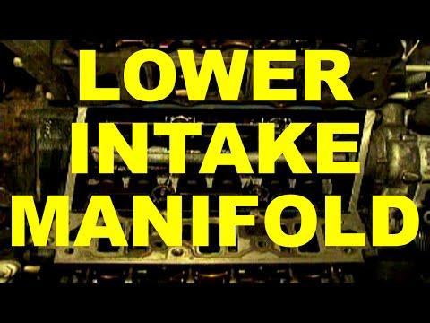 change lower INTAKE MANIFOLD gasket replacement - GM 3800 v6 engine - 3.8 L - V6 engine cars