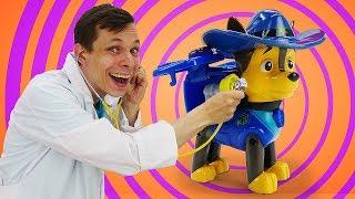 Щенячий Патруль – Почему Чейз чихает? – Новые видео с игрушками у Доктора Ой.