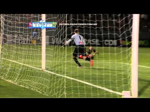 Gol de Menéndez. Independiente 4 - Santamarina 1. Copa Argentina. FPT