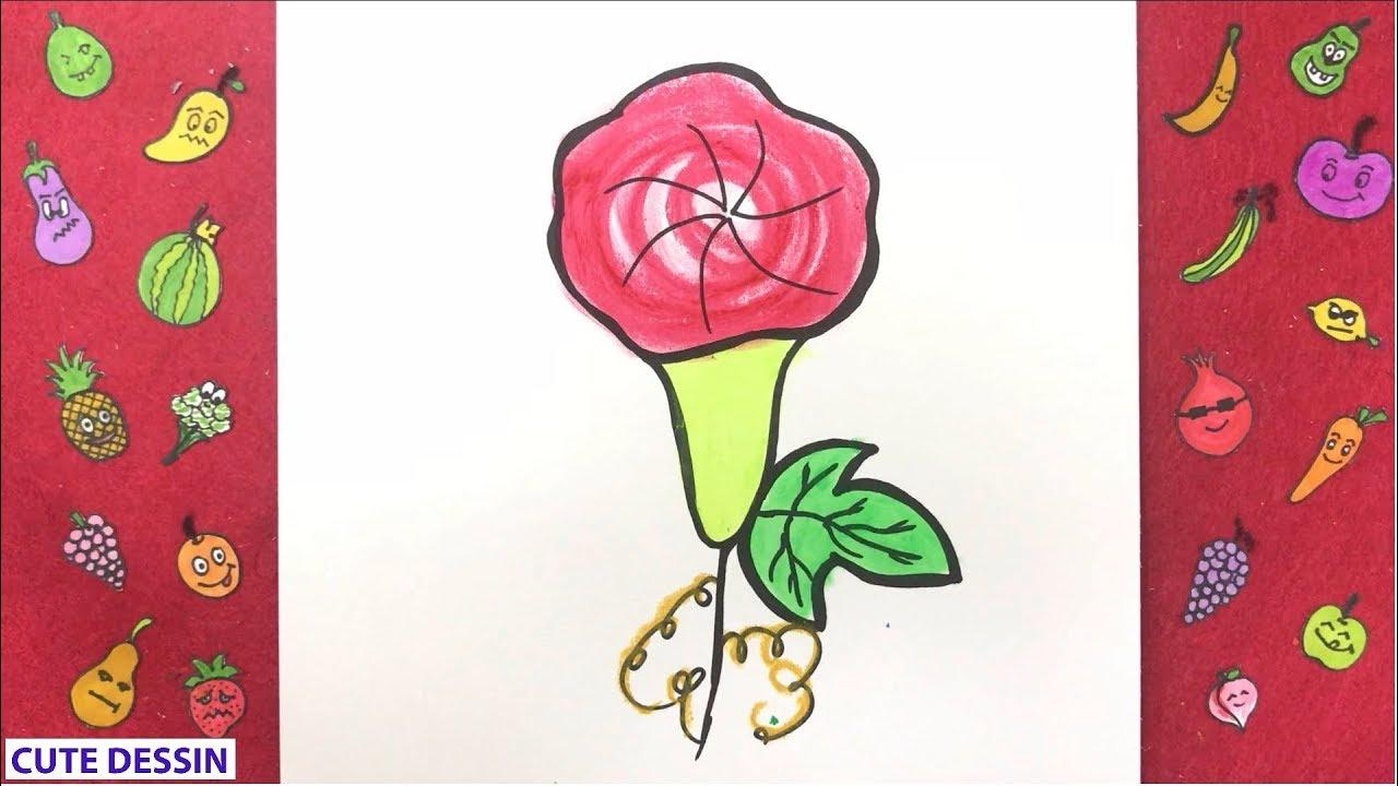 Comment Dessiner Et Colorier Une Fleur Mignon Facilement Etape Par Etape 3 Dessin Fleur Bizimtube Creative Diy Ideas Crafts And Smart Tips