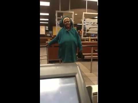 Crackhead Carla Turning Up In Burger King