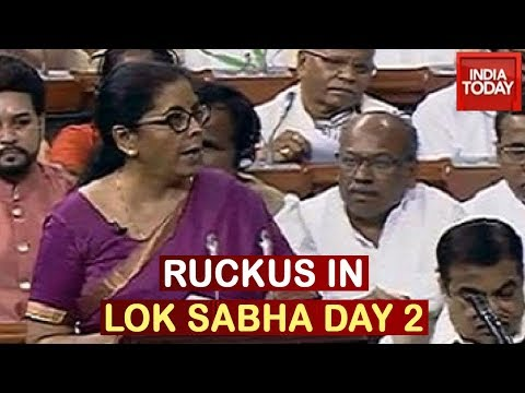 Parliament Showdown: Sloganeering During Nirmala Sithraman's Speech