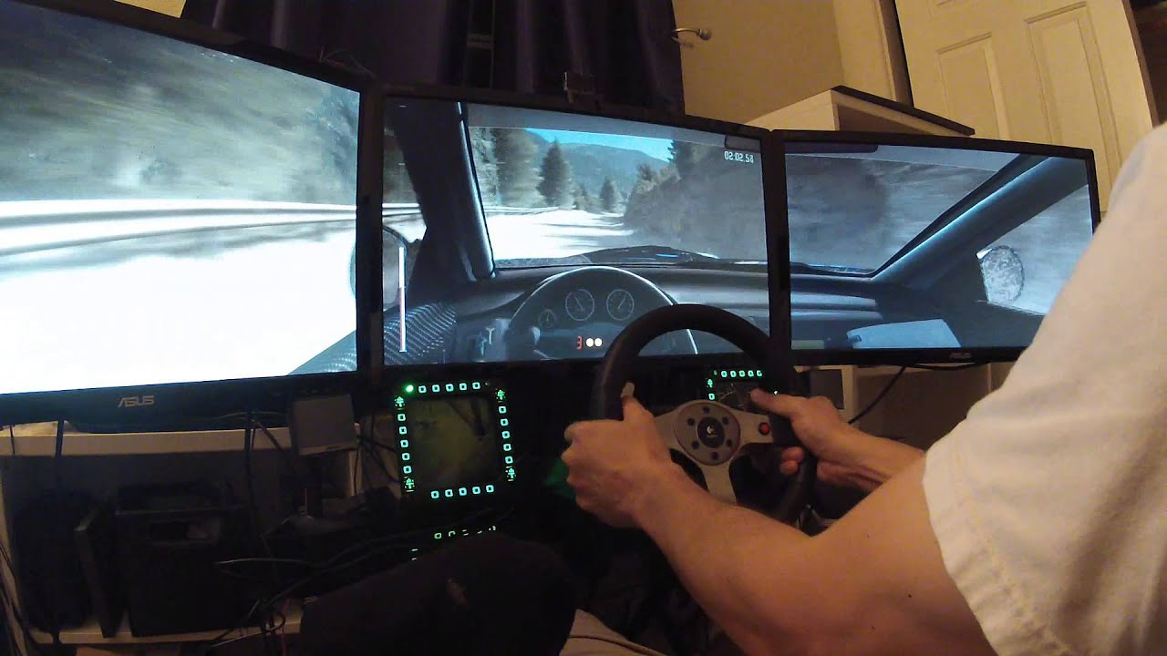 DiRT RALLY - 3 monitors Ultra Settings - GTX 980 - YouTube