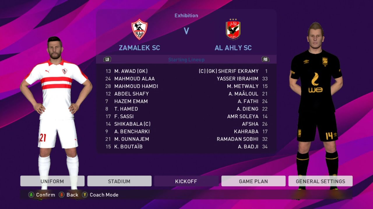 Zamalek vs Al Ahly | Egypt Premier League | eFootball PES 2020