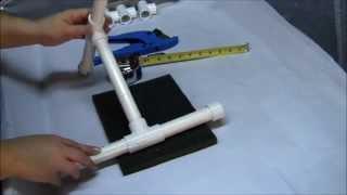 Spinning Yarn: How to make your own PVC Niddy Noddy aka Knitty Noddy!