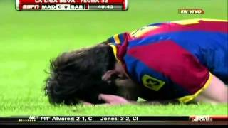 Pepe gets angry with Messi so decides to kick him in the face!!