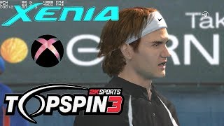 XBOX 360 emulator TOP SPIN 3 on PC XENIA 60FPS gameplay