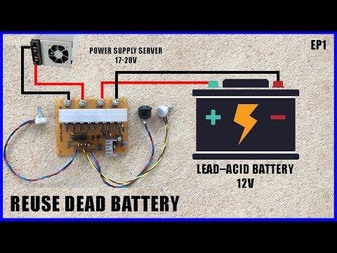 ทดสอบโมดูลสลายซัลเฟตในแบตเตอรี่-ยืดอายุการใช้งาน   Lead Acid Battery Recovery By Electronic circuit