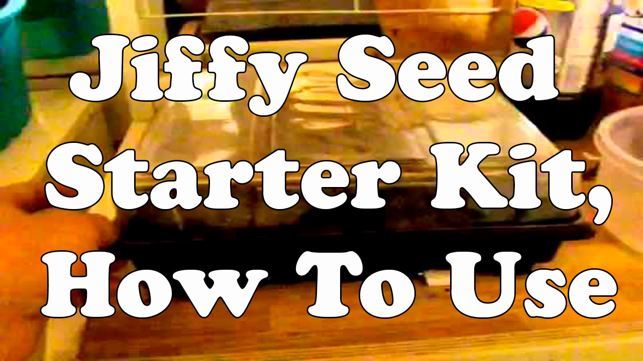 Jiffy seed starter kit, how to use youtube.