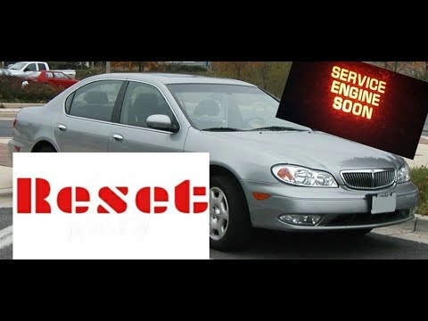 How To Reset Service Engine Soon Light On A 2003 Infiniti I30 Youtube