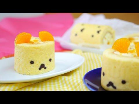 Little Orange Bear Roll Cake みかんクマちゃんロールケーキ