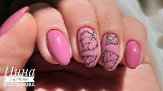🍂 САМЫЙ НЕЖНЫЙ ОСЕННИЙ дизайн ногтей 🍂 рисуем ЛИСТЬЯ на ногтях 🍂  Дизайн ногтей гель лаком 🍂