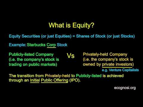 What is Equity? (part 1)