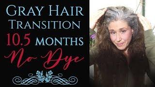 Silver Gray Hair Transition 10.5 Months No Dye