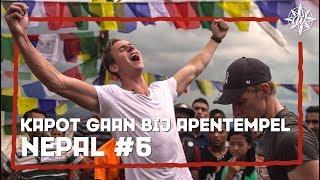 KAPOT GAAN BIJ APEN TEMPEL! | NEPAL #6 | Furtjuh & Thomas VS Gekke Markie & Laurens