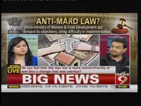 News 9 Anti Male Law - India Part1