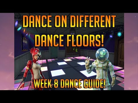 Dance On 3 Different Dance Floors In Fortnite Battle Royale! Disco Room Locations!