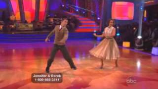 Jennifer Grey and Derek Hough Dancing with the stars WK 5 foxtrot