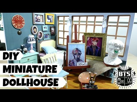 DIY Miniature Dollhouse for Jungkook (Blood, Sweat & Tears Theme)