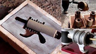 Metal Casting at Home Part 78 Full Details. Sand Preparation, Moulding ,Cores, Casting.