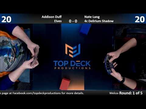 Modern FNM w Comm 112417: Addison Duff Elves vs. Nate Lang 4c Delirium Shadow