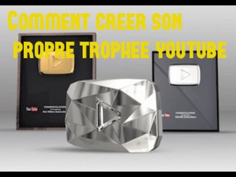 tuto comment cr er son propre troph e youtube en 2 clic how to create youtube button. Black Bedroom Furniture Sets. Home Design Ideas