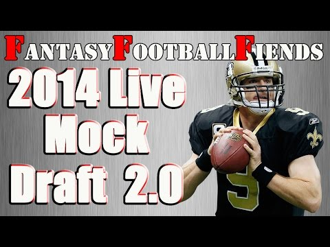 2014 Fantasy Football Live Mock Draft 2.0 || #FF Fiends