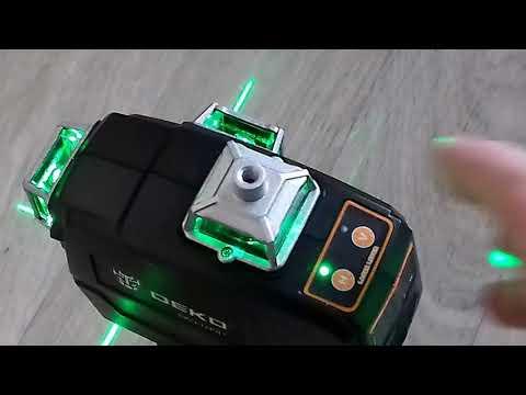 Дешёвый зелёный лазерный уровень DEKO DKLL 12PB1 из китая