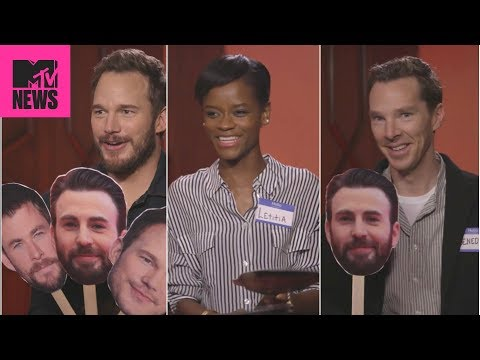 👊  Avengers: Infinity War Cast Plays 'Know Your Chris' 😂  | MTV News