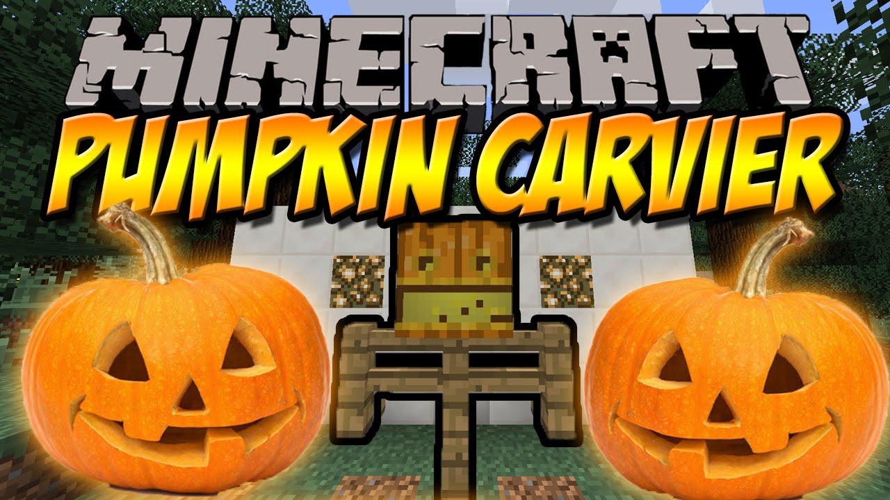 k rbis aush hlen pumpkin carvier mod minecraft mod review deutsch youtube