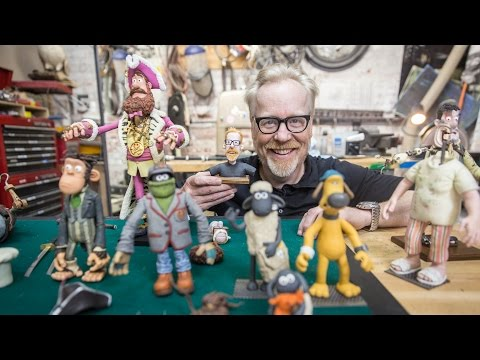 Adam Savage Meets Aardman Animations' Puppets!