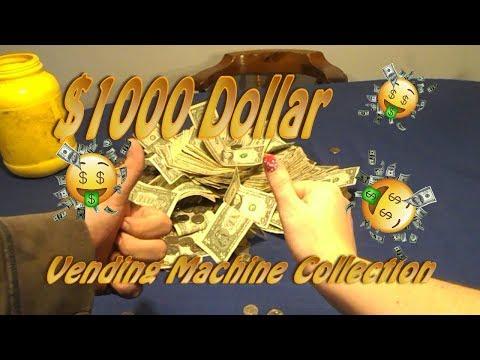 1000 dollar vending machine collection!!!! O.o