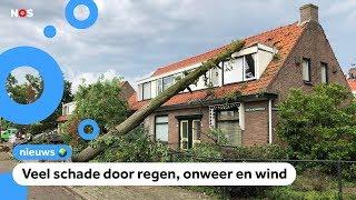 Zo trok het noodweer over Nederland ⚡