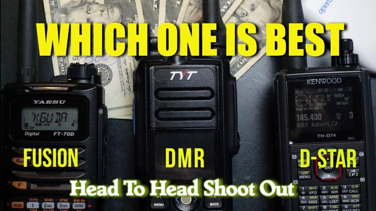 DMR DSTAR FUSION Head To Head - Which One Is Best? | K6UDA Radio
