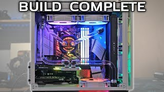 IT IS FINISHED - MicroATX Water Cooled Corsair Hydro X Build Part 3