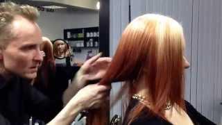 Салон красоты ЧИКАГО в Петербурге на Савушкина. Окрашивание волос обратное омбре