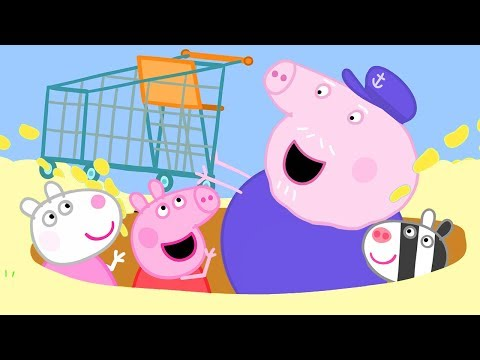 Peppa Pig Official Channel | Finding a Trolley at the Beach with Peppa Pig