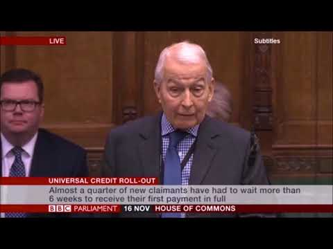 Frank Field tells of a constituent made homeless because of Universal Credit