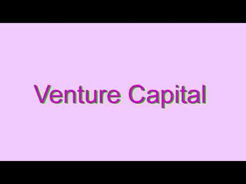 How to Pronounce Venture Capital