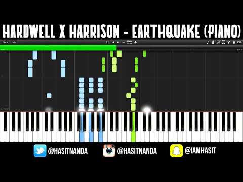 Hardwell & Harrison - Earthquake (How to play on PIANO)