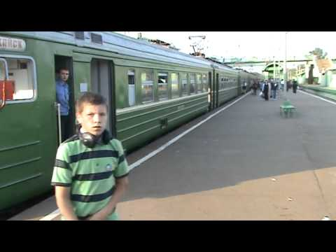 Электропоезд ЭР2Р-7055 станция Голицыно
