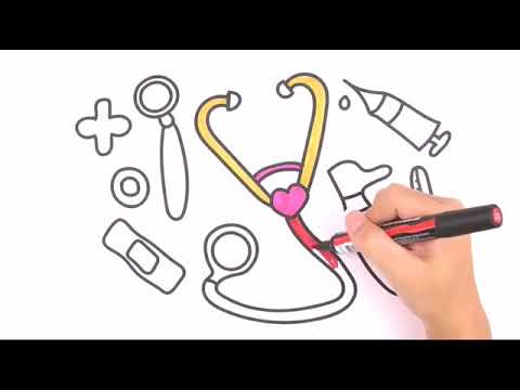 Belajar Menggambar Mainan Anak Dokter Dokteran Dan Mewarnai Edukasi
