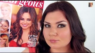 Mila Kunis. Милa Кунис. Makeup Tutorial (GQ inspired/SAG awards)